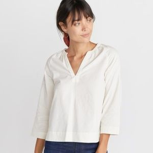 Marine Layer Lenora Blouse in White